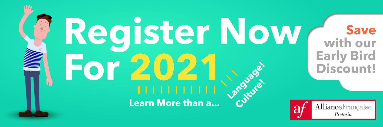 Register now for 2021